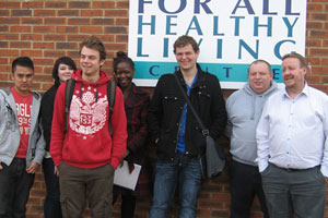 Health students visiting the FAHLC